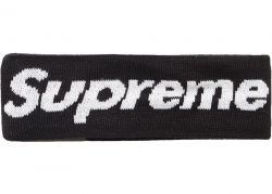 Supreme New Era Big Logo Headband (FW18)- Black – Streetwear Official