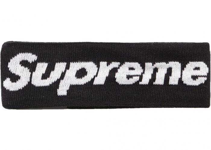 Supreme New Era Big Logo Headband (FW18)- Black – Streetwear Official