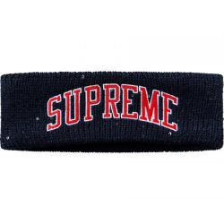 Supreme New Era Sequin Arc Logo Headband- Navy – Streetwear Official