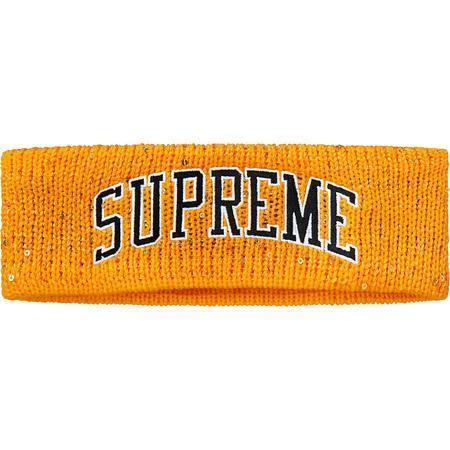 Supreme New Era Sequin Arc Logo Headband- Yellow – Streetwear Official