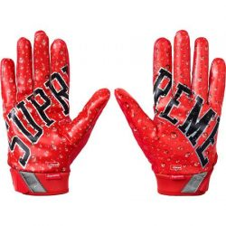 Supreme Nike Vapor Jet 4.0 Football Gloves- Red – Streetwear Official
