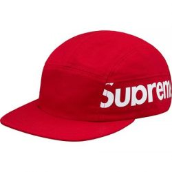 Supreme Side Panel Camp Cap- Red – Streetwear Official