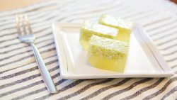Pandan Jelly with Coconut Milk