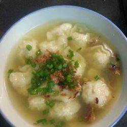 Wanton Soup with Meat and Prawn Filling