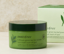 SKIN CARE – [Big size] 5-Minute Green Tea Leaf Powder Face Mask | innisfree