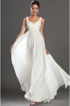 Abiti da sera bianco lungo, Vestito da sera bianco corto