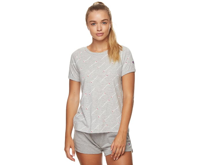 Champion Women's Graphic Slub Short Sleeve Tee – Oxford Heather | Catch.com.au
