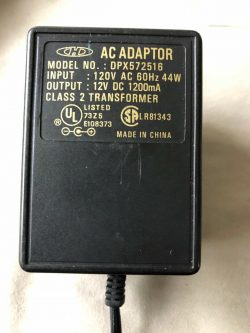 New 12V 1.2A HELMS-MAN DPX572516 Class 2 Transformer Power Supply Ac Adapter