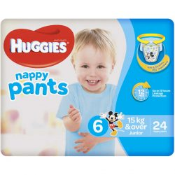 Huggies Nappy Pants For Boys 15kg or Over Junior 24 Pack | BIG W