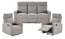 Evans 3 Seater & 2 Reclining Armchairs Sofa Set | Lounge Sets | Sofas & Armchairs | Cate ...