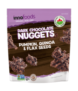 Dark Chocolate Nuggets – Innofoods Inc.Pumpkin,Quinoa & Flax seeds