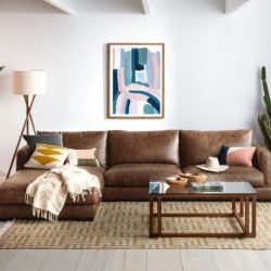 HAMILTON 3 Seat Leather Modular Sofa in Caramel | freedom