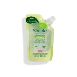 Simple® Refreshing facial wash pouch