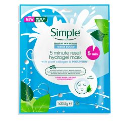 Simple® 5minute reset hydrogel mask
