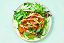 Satay tofu and pumpkin salad