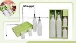 4pcs decaled condiment set – O-003