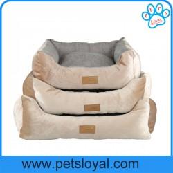 washable dog beds stripes short plush pp cotton machine washable dog bed