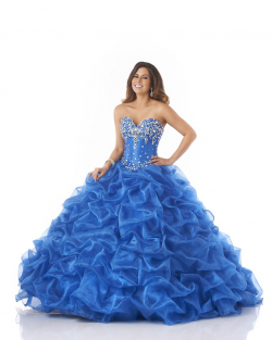 US$221.99 2015 Crystals Ruffled Floor Length Tulle Blue Lace Up Sweetheart
