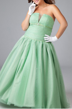 US$170.99 2015 Beading Satin Sleeveless Ruched Lace Up Strapless Floor Length